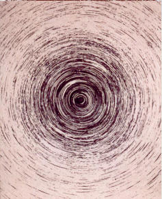 Spiral V, chinese ink on cotton, 69 x 56 cm